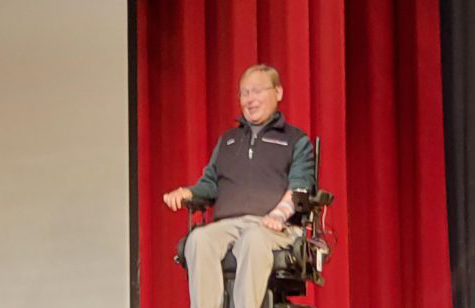 Travis Roy spoke in front of WHS in a special assembly.
